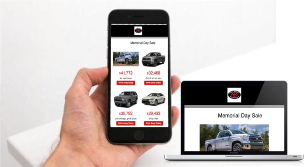 DriveAuto mobile and desktop advertising